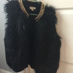 Michael Kors fur vest black